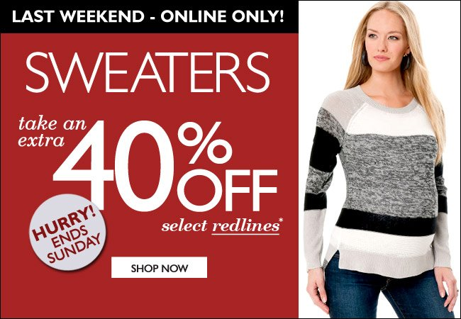 Take and Extra 40% Off - Select Sweaters