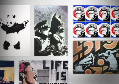 Shop New Banksy-Style Art Prints