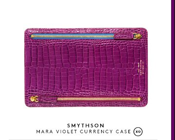 SMYTHSON MARA VIOLET CURRENCY CASE