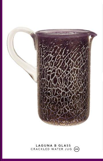 LAGUNA B GLASS CRACKLED WATER JUG