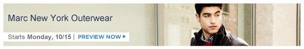 Marc New York Outerwear is on HauteLook Monday 10/15