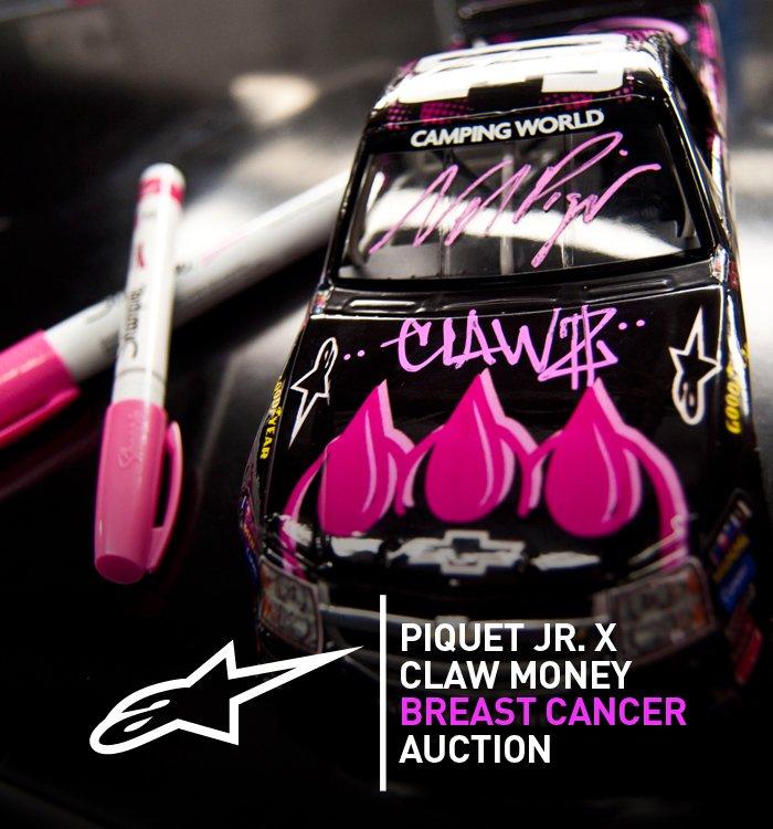 Nelson Piquet Jr. / Claw Money Breast Cancer Auction