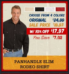 Panhandle slim rodeo shirt
