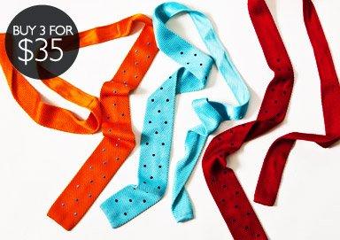 Shop Ties: Buy 3 for $35