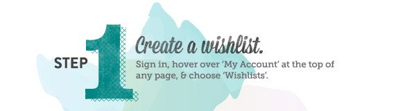 Step 1: Create a wishlist.