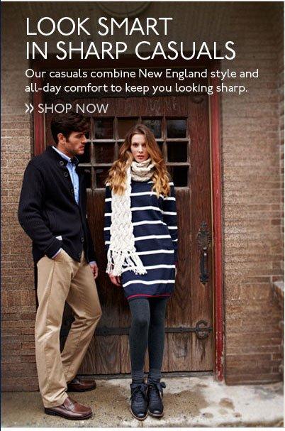 Look Smart in Sharp Casuals Shop Now