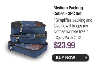 Medium Packing Cubes - 3PC Set - Buy Now