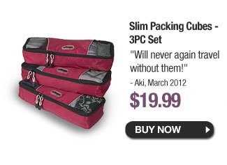 Slim Packing Cubes - 3PC Set - Buy Now