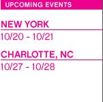 Upcoming Events | New York and Charlotte, NC