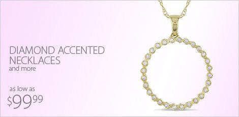 Diamond Accented Necklaces and More