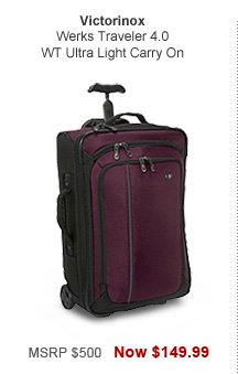 Shop Victorinox Werks Traveler 4.0 WT Ultra Light Carry On