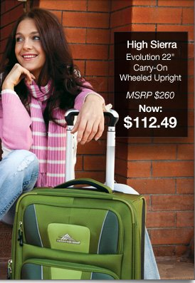 Shop High Sierra Evolution 22 in. Carry On Wheeled Upright | MSRP: $260 NOW $112.49