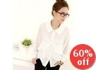 Chiffon-Sleeve Layered Blouse