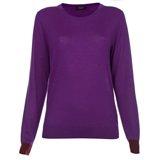Paul Smith Knitwear - Purple Cashmere Crew Neck Jumper