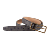 Paul Smith Belts - Grey Halo Print Classic Suit Belt