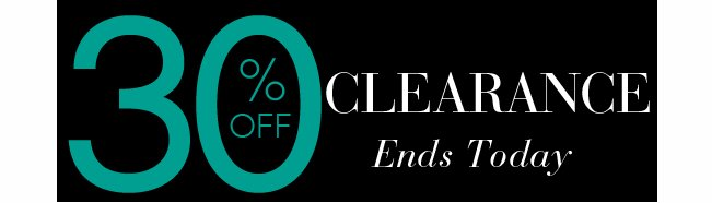 Shop an Extra 30% OFF Clearance