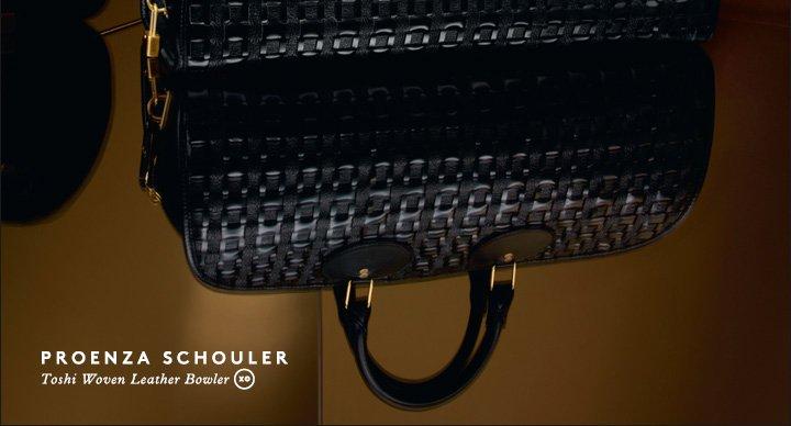 PROENZA SCHOULER Toshi Woven Leather Bowler