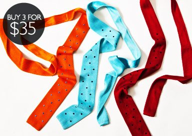 Shop Ties: Buy 3 for $35
