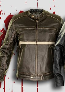 Xelement Men's Brown Leather Armored Motorcycle Jacket
