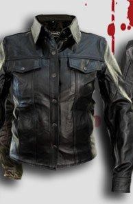 Womens Fashion Black Leather Motorcycle Jacket