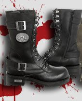 Women's Leather Motorcycle Boots