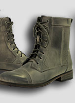 Xelement Men's Laced Antique Grey Motorcycle Boots