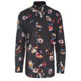 Paul Smith Shirts - Slim-Fit Mauve Digital Floral Print Shirt