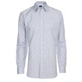 Paul Smith Shirts - White Diamond Jacquard Shirt