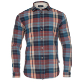 Paul Smith Shirts - Blue And Burgundy Check Shirt