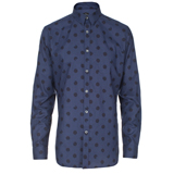 Paul Smith Shirts - Slim-Fit Navy Spot Print Shirt