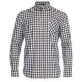 Paul Smith Shirts - Standard Fit Navy Gingham Neon Flecked Shirt