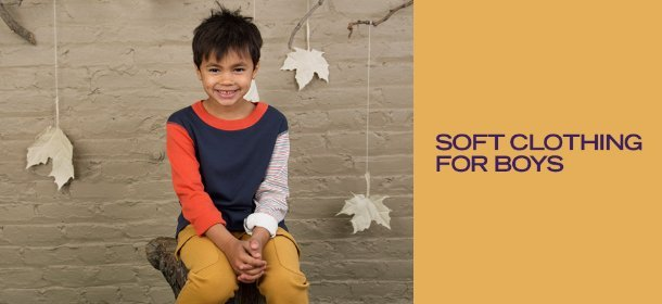 SOFT CLOTHING FOR BOYS, Event Ends October 18, 9:00 AM PT >