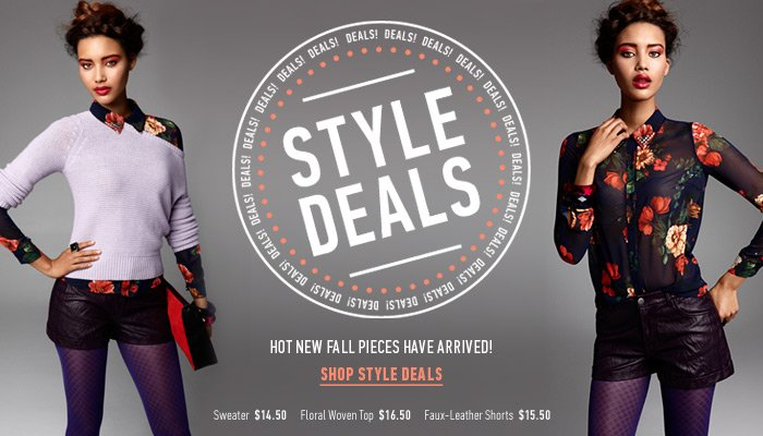 Our New Fall Style Deals Have Arrived! - Shop Now