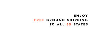 free ground shipping on all orders