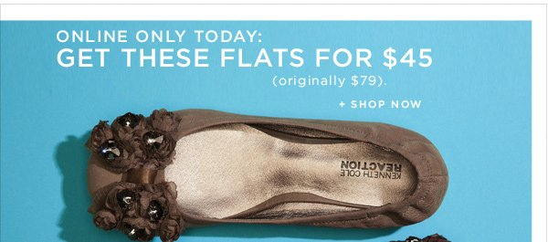 Online Only Today: Get these flats for $45 (originally $79)