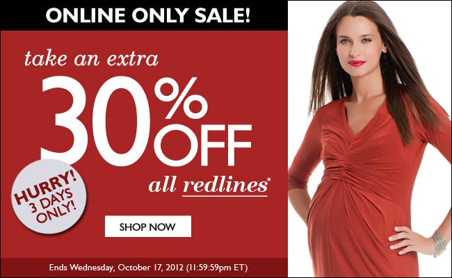 Online Only: Take an Extra 30% Off - All Redlines