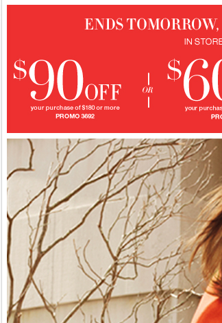 Here's $90. Take a shopping break from your busy Tuesday.