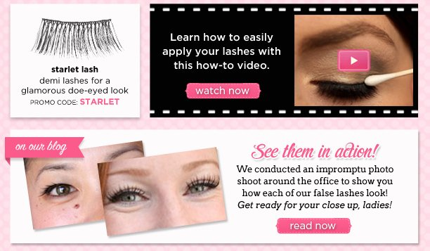 Flutter your falsies around town!