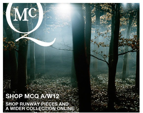 Shop The McQ Autumn/Winter'12 collection