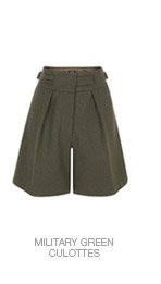 Shop The Military Green Culottes