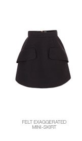 Shop The Felt Exaggerated Mini-Skirt