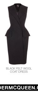 Shop The Black Felt Wool Coat Dress