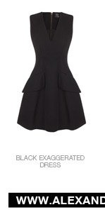 Shop The Black Silk Faille Exaggerated Dress