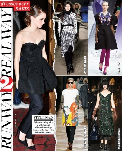 Runway to Real Way: Dresses Over Pants