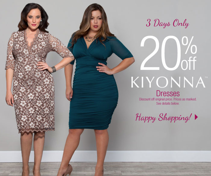 3 Days Only! 20% off Kiyonna Dresses