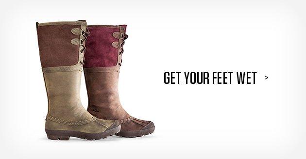 Get your feet wet