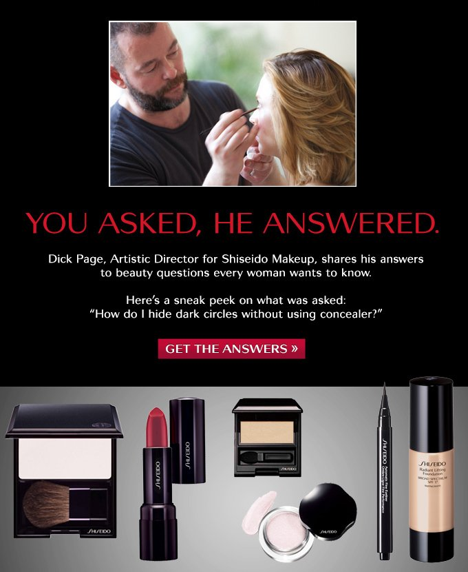 Dick Page shares his beauty tips!