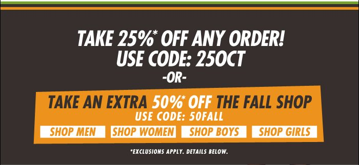 DrJays.com Take 25% Off Any Order With Promo Code. Take 50% Off The Fall Shop With Promo Code.