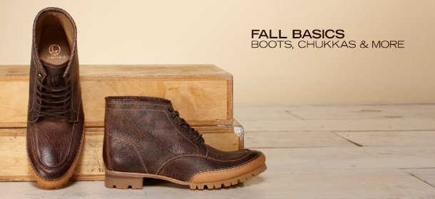 FALL BASICS: BOOTS, CHUKKAS & MORE