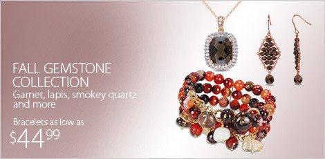 Fall Gemstone Collection Garnet/Lapis/Sm Quartz etc